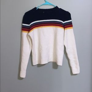 Never worn rainbow striped sweater